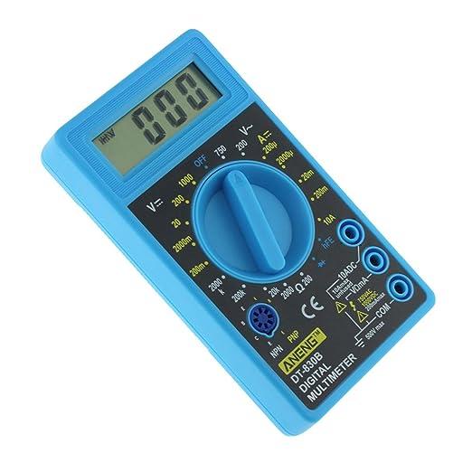 Ueetek Lcd Digital Multimeter Dt 830b Elektrische Voltmeter Amperemeter Ohm Tester Ac Dc 750 1000 V Amp Volt Ohm Tester Meter Blau Gewerbe Industrie Wissenschaft