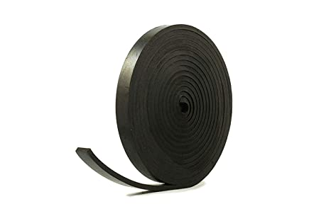 SOLID NEOPRENE BLACK RUBBER RUBBER STRIP 50mm wide x 3mm thick x 5m long