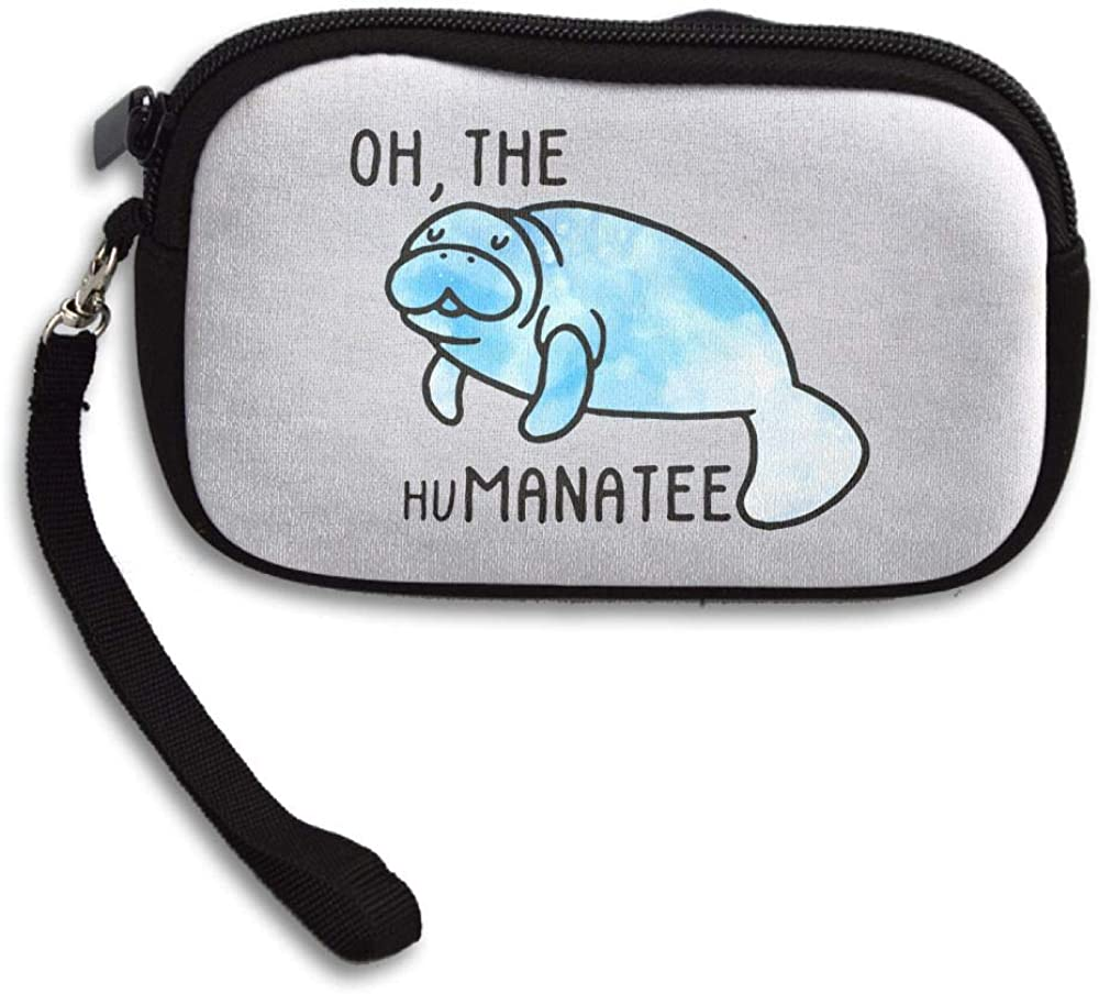 Manatee Head Custom Zip Handbag Coin Purse Change Cash Wallet