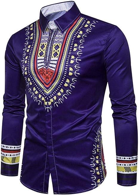 Yvelands Camisa de impresión Africana Manera Casual Jersey de ...