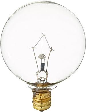 Westinghouse Lighting 0361200, 40 Watt, 130 Volt Clear Incand G16.5 Light Bulb, 2500 Hour 340 Lumen