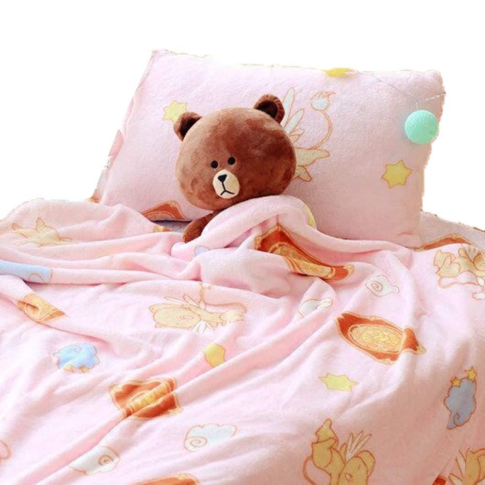 futurecos Card Captor Sakura Throw Blankets Full Size Cerberus Soft Flannel Blanket Pink Cute Kinomoto Sakura Blanket Queen Size Anime Gift for Girls Kids (Blanket 79inch79inch)
