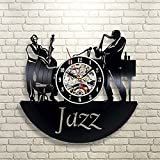 Cheap Jazz Art Vinyl Wall Clock Gift Room Modern Home Record Vintage Decoration