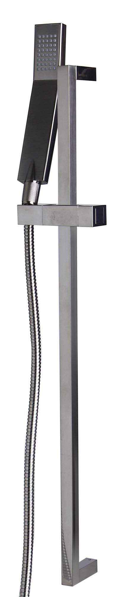 ALFI brand AB7606 Sliding Rail Hand Held Shower Head Set with Hose, Brushed Nickel