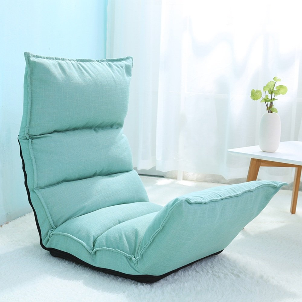 Armchairs ZHANGRONG Lazy Sofa Collapsible Cloth Art Individual Sofa Chair Living Room Bedroom Balcony Office -Applicable to indoor and outdoor (Color : Blue)