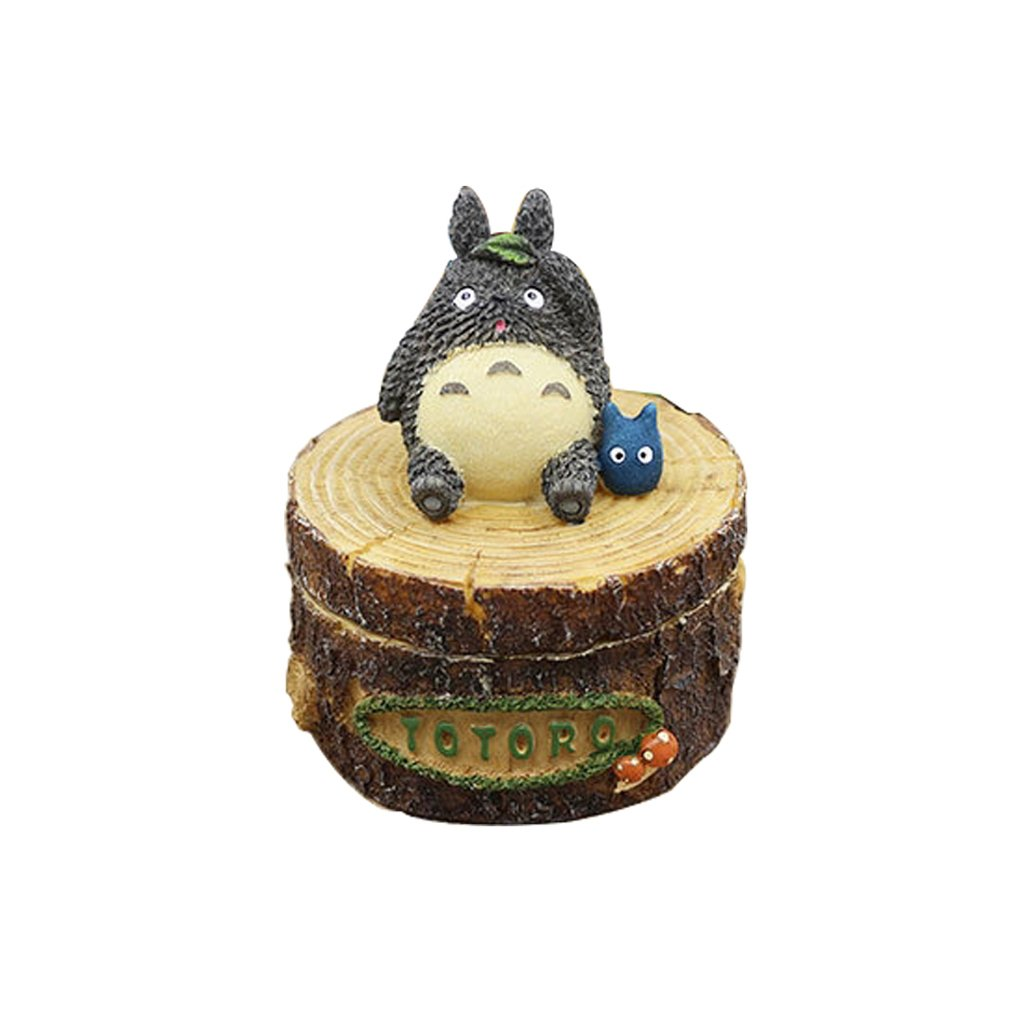 TLMY Ashtray Creative Personality Trend Male Multifunctional Cover Korean Cute Totoro Ashtray Living Room Bedroom Home Ashtray (Color : #1)