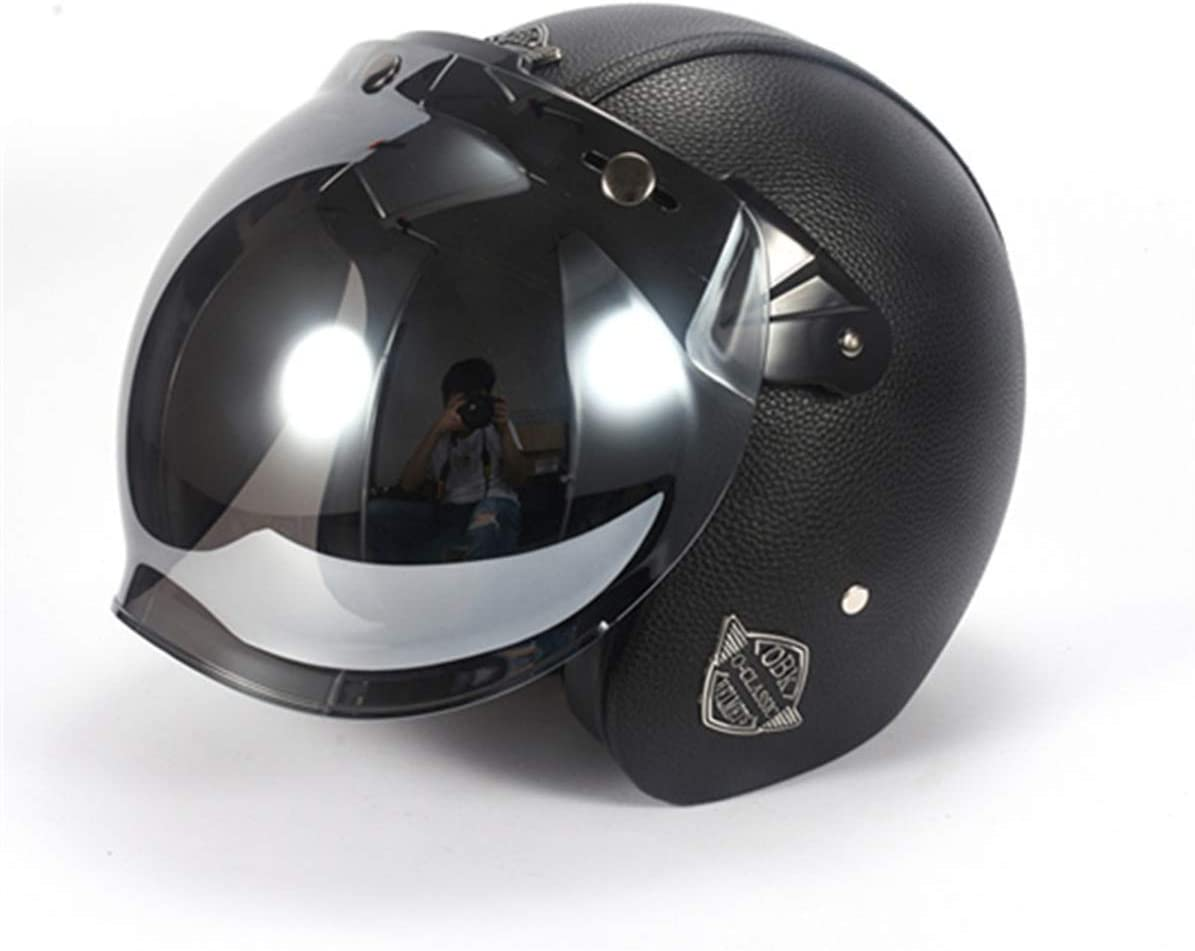 BLLJQ Downhill Helm BMX Helmet with Breathable Anti-Reflective,C,S