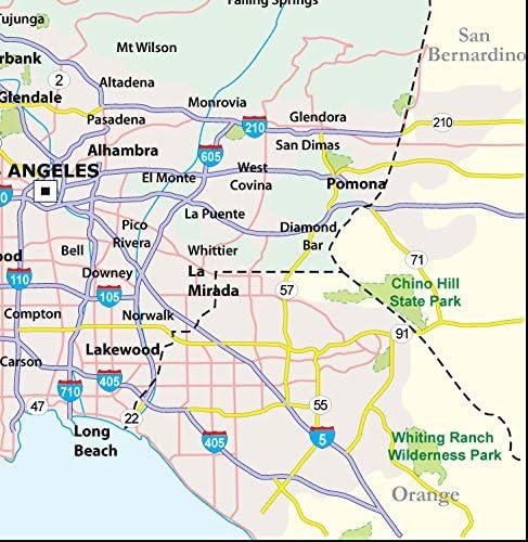 Amazon.com : Los Angeles County Map - Laminated (36