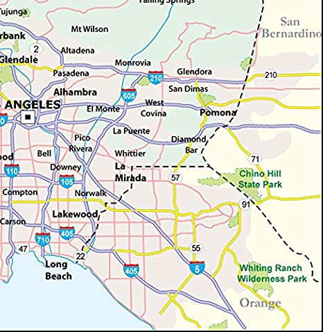 Amazon.com : Los Angeles County Map - Laminated (36