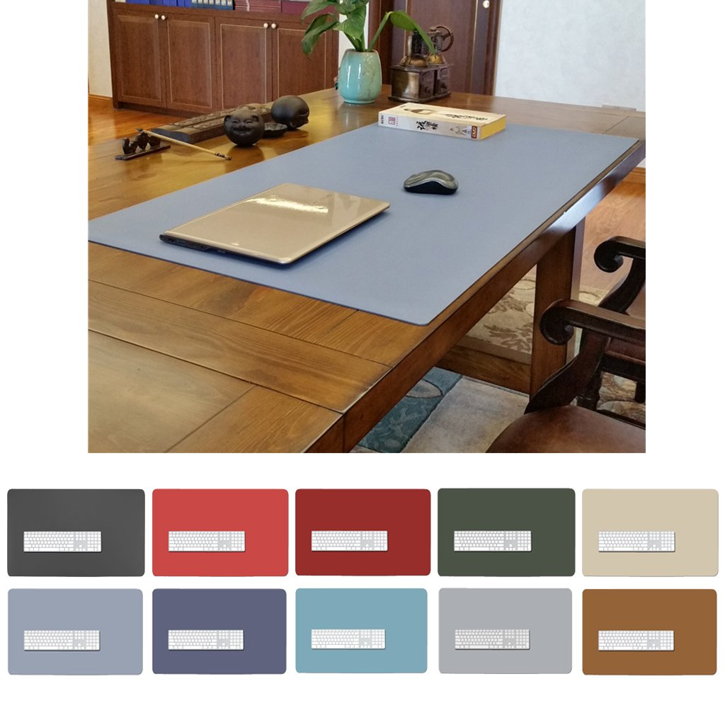 Waterproof Desk Pad Black Office Desk Supplies Extended Large Gaming Mouse Pad 27 17 ZSZBACE Leather Desk Mat