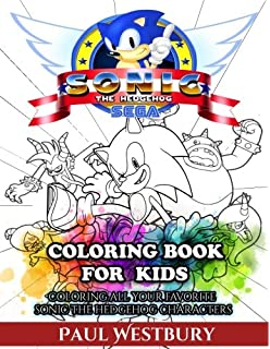 sonic the hedgehog coloring book for kids coloring all your favorite sonic the hedgehog characters - Sonic The Hedgehog Coloring Book