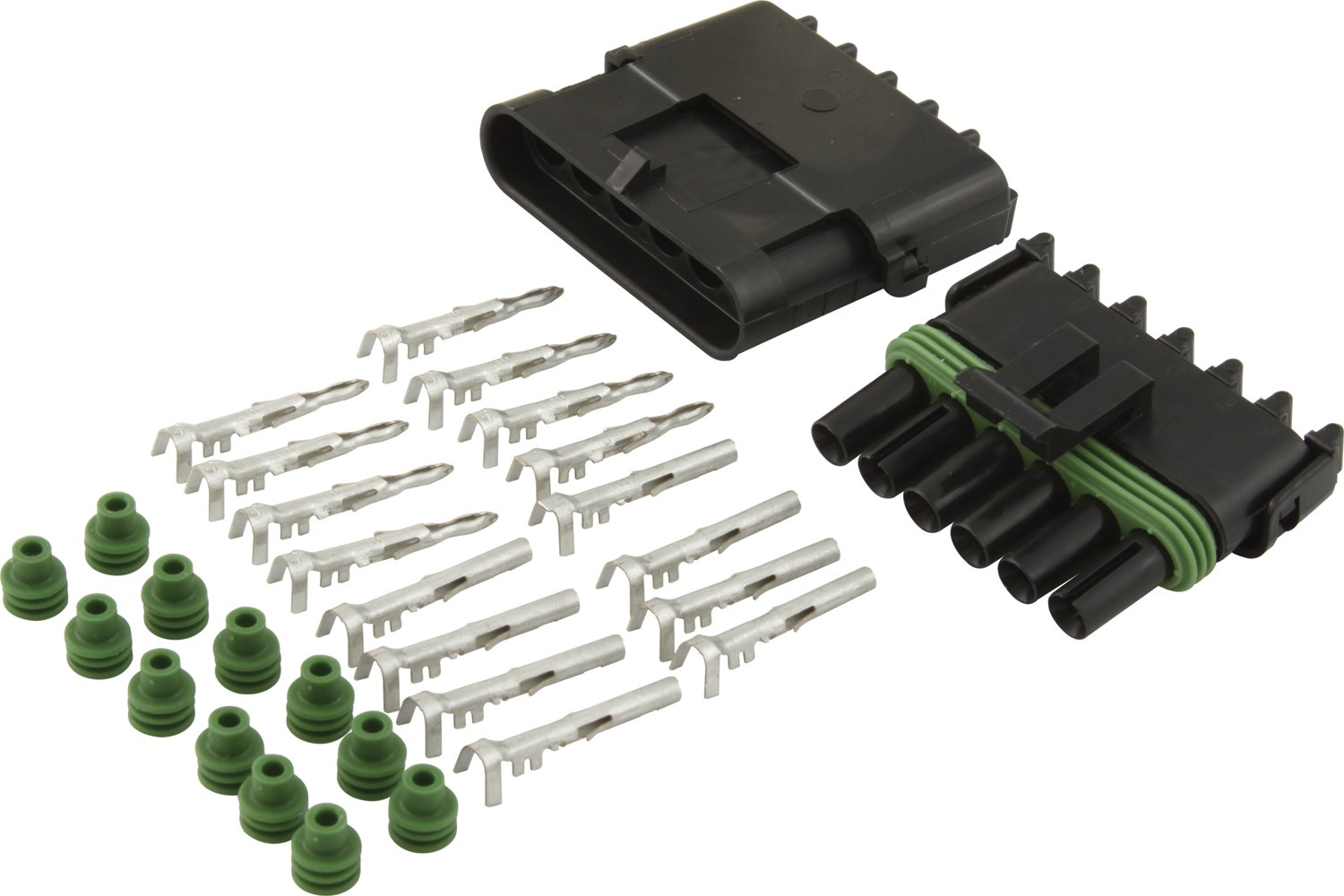 Allstar ALL76270 6-Wire Weather Pack Individual Connector Kit