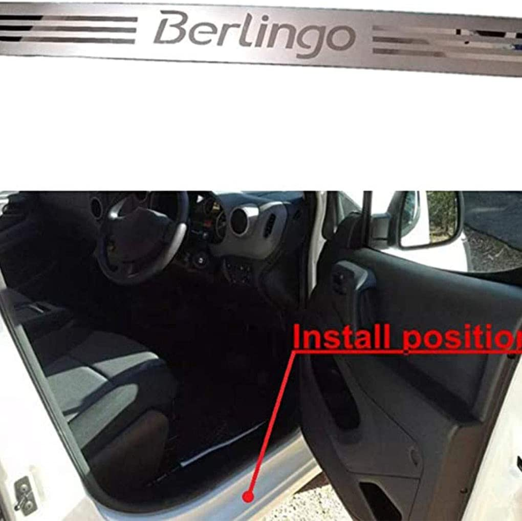 for Citroen Berlingo B9 MK2 II 2008-2019 Protective Decoration WNMASS 4pcs Stainless Steel Door Sill Scuff Kick Plates Pedal Threshold Bar Protection