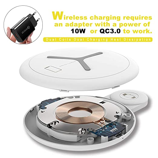 Amazon.com: KarGie 2.5W 2 in 1 QI Wireless Charger for ...