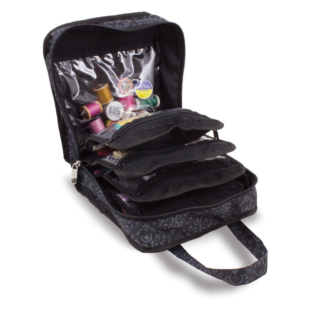 Sewing Accessories Case, Knitting and Craft Organiser Storage Bag in Imperial Black by Roo Beauty Roo Beauty Ltd