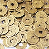 """50pcs Feng Shui I-ching Coins Fortune Coin Dia:20mm (0.8"""") W Free Fengshuisale Red String Bracelet by fengshuisale"""