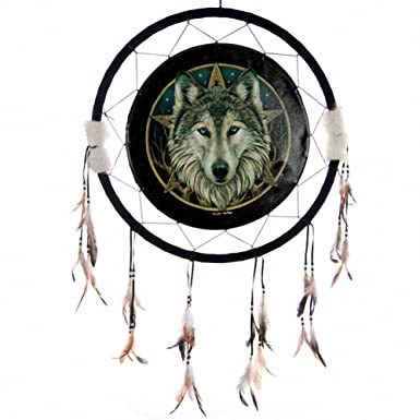 Decorative Celtic Wolf Head Dreamcatcher Size 40 Cm H X 40 Cm W X 40 Unique Wolf Head Dream Catcher