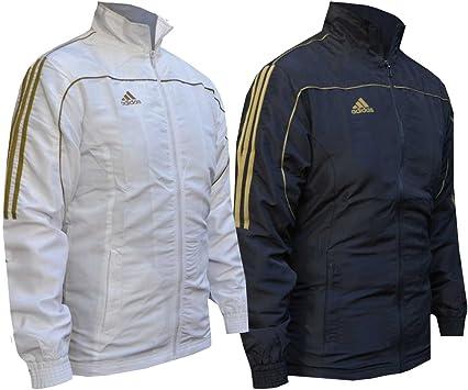 adidas Chaqueta chándal Gold Stripes, Negro, 152: Amazon.es ...