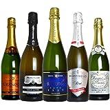 ソムリエが選ぶ 本格 高級 辛口 スパークリング ワイン 飲み比べ 5本 セット