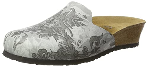 Papillio Women's Lucy Birko-Flor Clogs Grey Size: 3.5 UK
