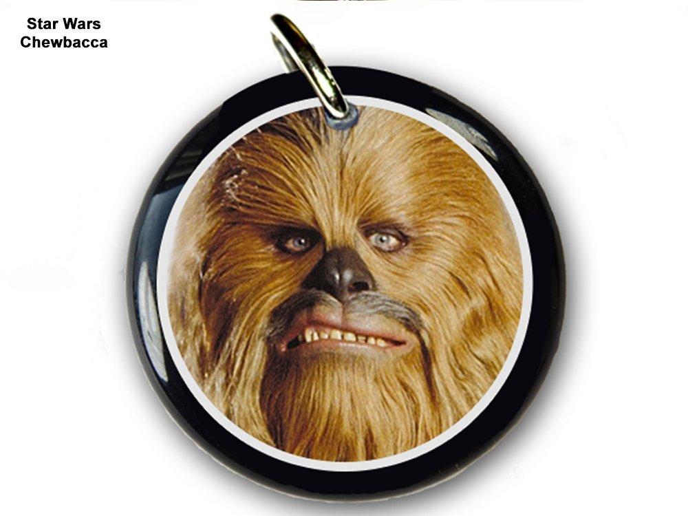 Pet ID Tags Dog Tags Star Wars Chewbacca (Small 1'')