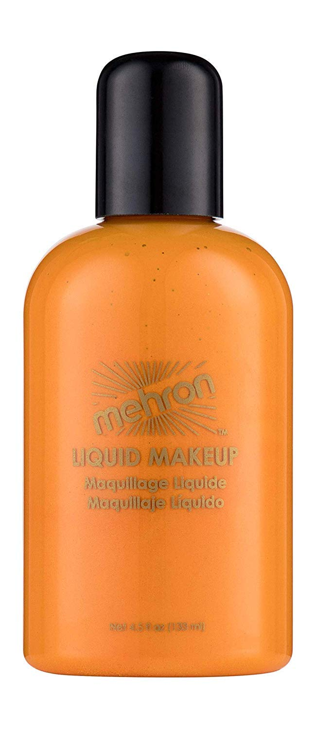Mehron Makeup Liquid Face & Body Paint (4.5 ounce) (Orange)