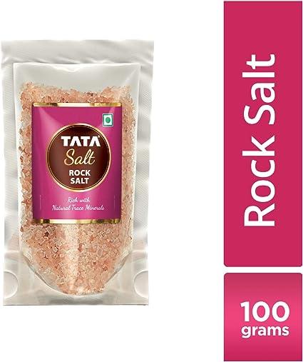 Tata Salt, Rock Salt Crystals Refill Pack, 100g