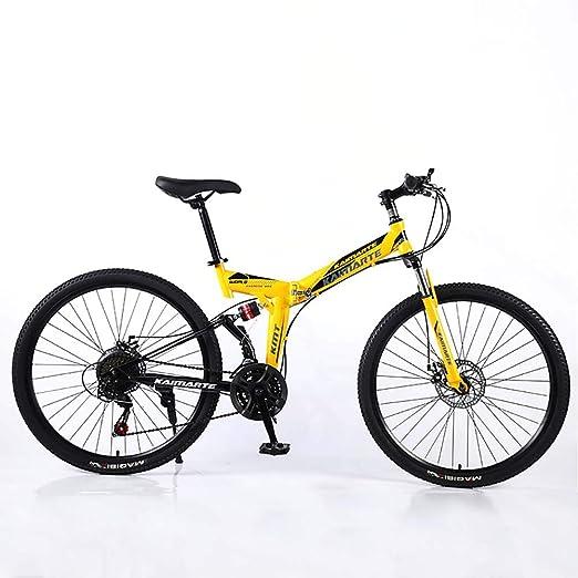 F-JWZS Unisexo Bicicleta de Montaña de Doble Suspensión, 24 ...