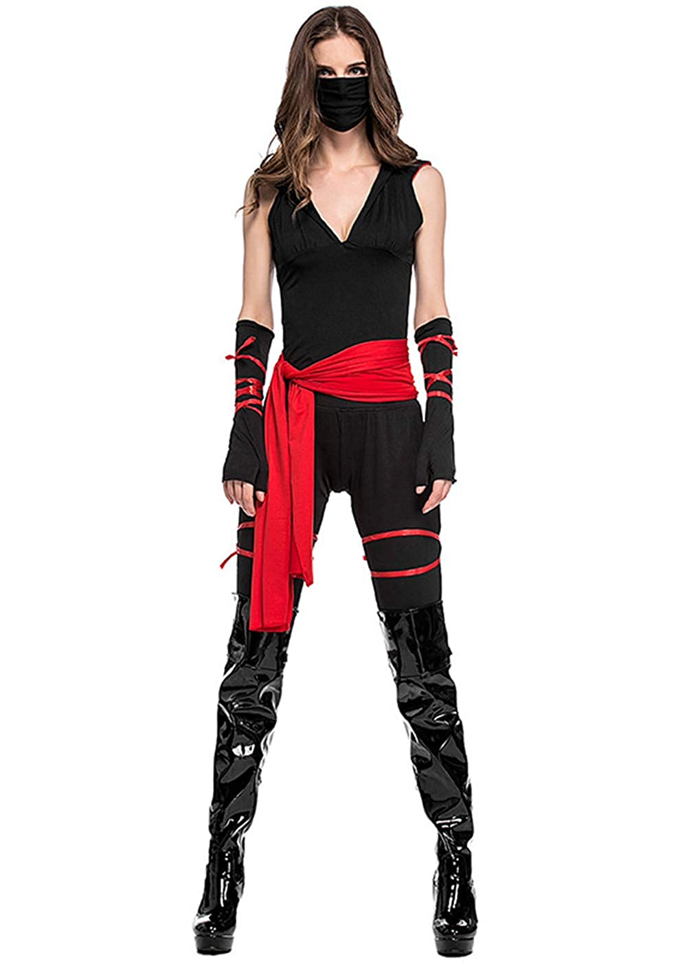 Amazon.com: Halloween Costumes Womens Ninja Cosplay,Ninja ...