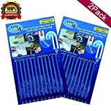 Kitchen Sink Drain Cleaner Sticks, As Seen on TV Drain Cleaner and Deodorizer, Keep Your Drain Pipes Clear Odor-Free And Prevent Pipe Blockage, 2 Pack, (Safety) Ocean, Lavender, Lemon, Orange (Blue)