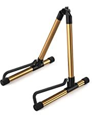 Donner DS-1 Gold Portable Ultimate Guitar Stand (Acoustic Electric Classical Bass Guitar,Single Guitar Stand)