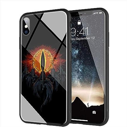 yinzongstore AMB-56 Coque pour iPhone Motif Le Seigneur des Anneaux Hobbit for iPhone X/XS 5