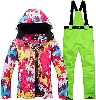Zantec Tuta da Sci Giacca da Sci + Pantaloni da Snowboard Impermeabili Antivento Sci per Snowboard