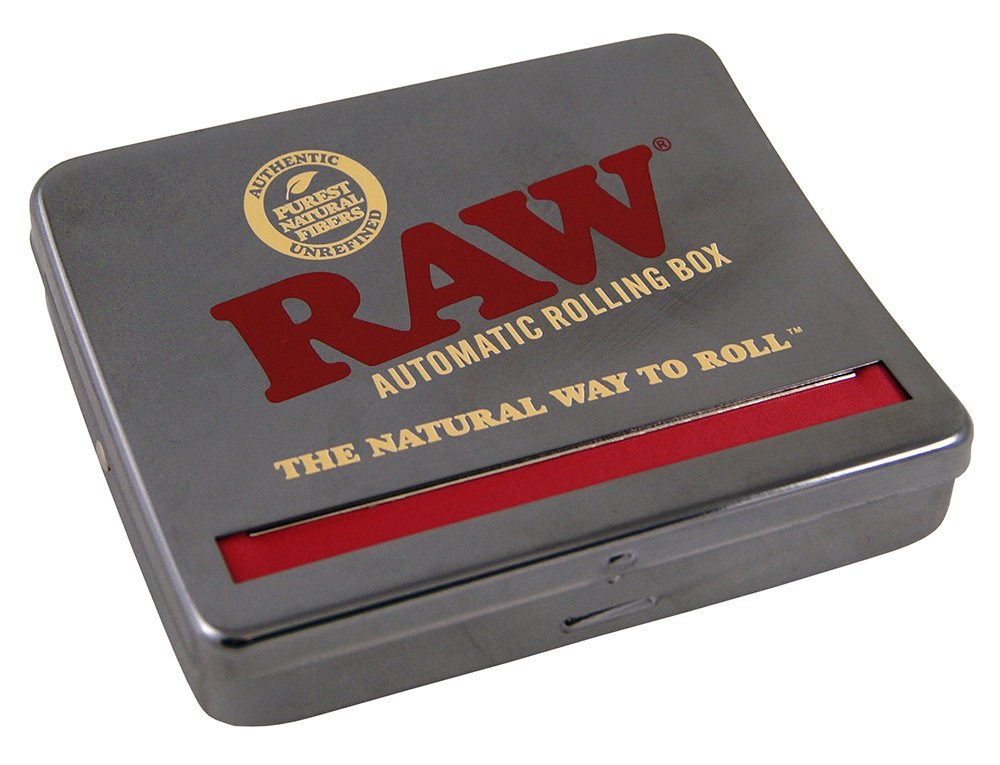 RAW Natural Unrefined Rolling Papers - Automatic Rolling Box - 110mm King Size by RAW