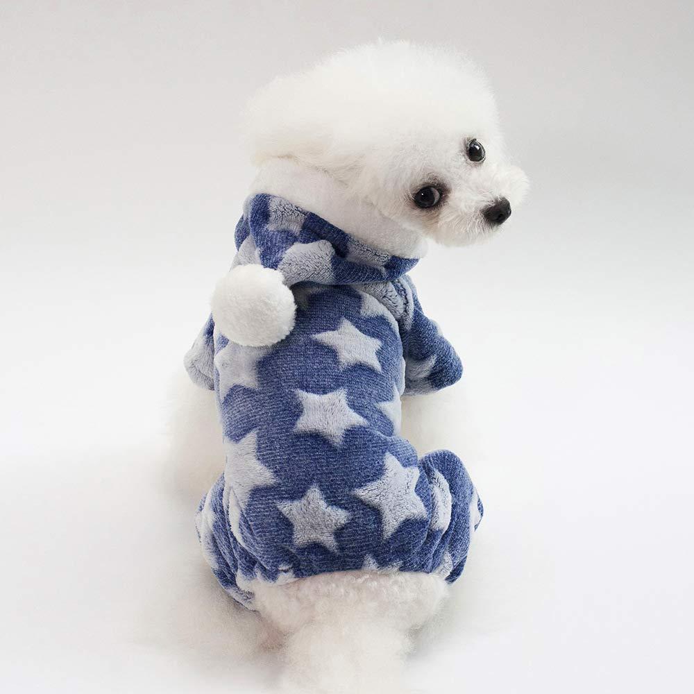 Costume da compagnia per feste Autunno e inverno nuovi vestiti per cani vestiti per animali domestici in pile a quattro zampe (colore  verde, Taglia  S) Pet Uniform ( colore   Blu , Dimensione   S )