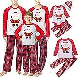 Family Matching 2 PCS Santa Claus Print Christmas