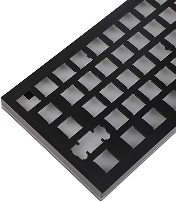 YMDK 67 Keys Minila Layout QMK Anodized Aluminum Case Plate hot-swappable Hot Swap Type C PCB Mechanical Keyboard Kit Light Gray Top Dark Gray Bottom