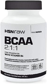 BCAA en Cápsulas de HSN Raw | Ratio 2:1:1 (Leucina, Valina ...