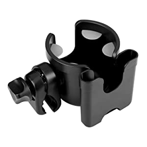 Roinaee Wheelchair Cup Holder with Phone Holder, 2 in 1 Walker Cup Holder, Stroller Cup Holder, Cup Holder for Walker,Wheelchair,Bike,Stroller