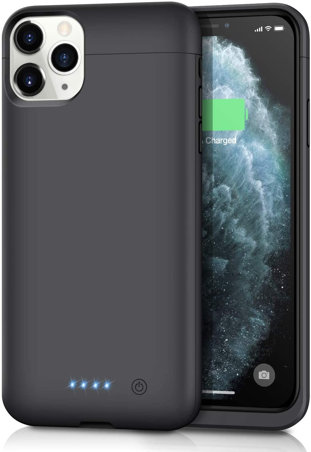 Battery Case for iPhone 11 Pro Max, Upgraded 6500mAh Portable Charging Case Protective Charger Case Extended Battery Pack for iPhone 11 Pro Max [6.5 inch]-Black