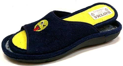 DAVEMA Pantofole Ciabatte estive da Donna Art. 6209 Spugna Blu con Plantare  Estraibile (37 b5114cd0ceb