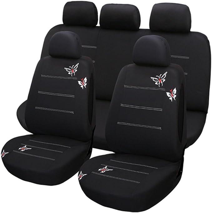 Universelle Auto Sitzbezüge Für Autositze Mit Aufgestickten Schmetterlingen Schutz Für Autositze Schonbezüge Auto