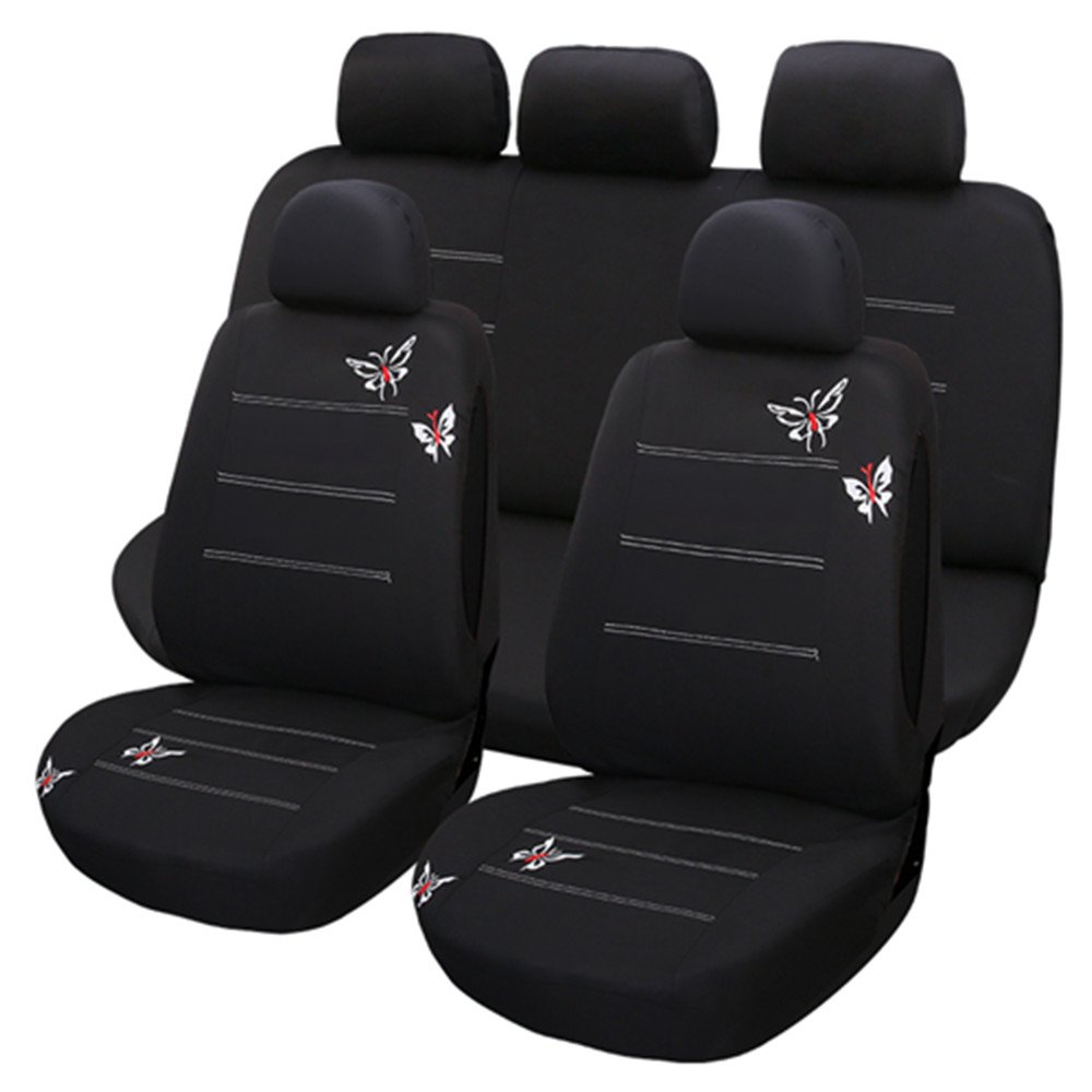 Car Seat Cover Sets Universal Water Resistant Covers Full 9 Set Auto Interior Accessories XY COOL
