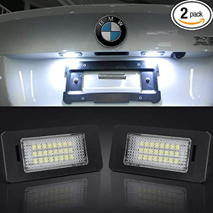 BMW E60 3 SMD High Power LED Canbus Error Free Number License Plate Light Bulbs
