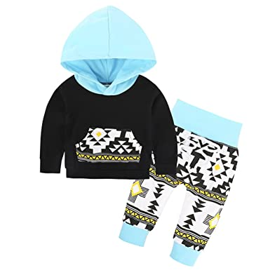 dc916aec Amazon.com: Toddler Infant Baby Boys Girls Deer Long Sleeve Hoodie Tops  Sweatsuit Pants Outfit Set Clothes: Clothing