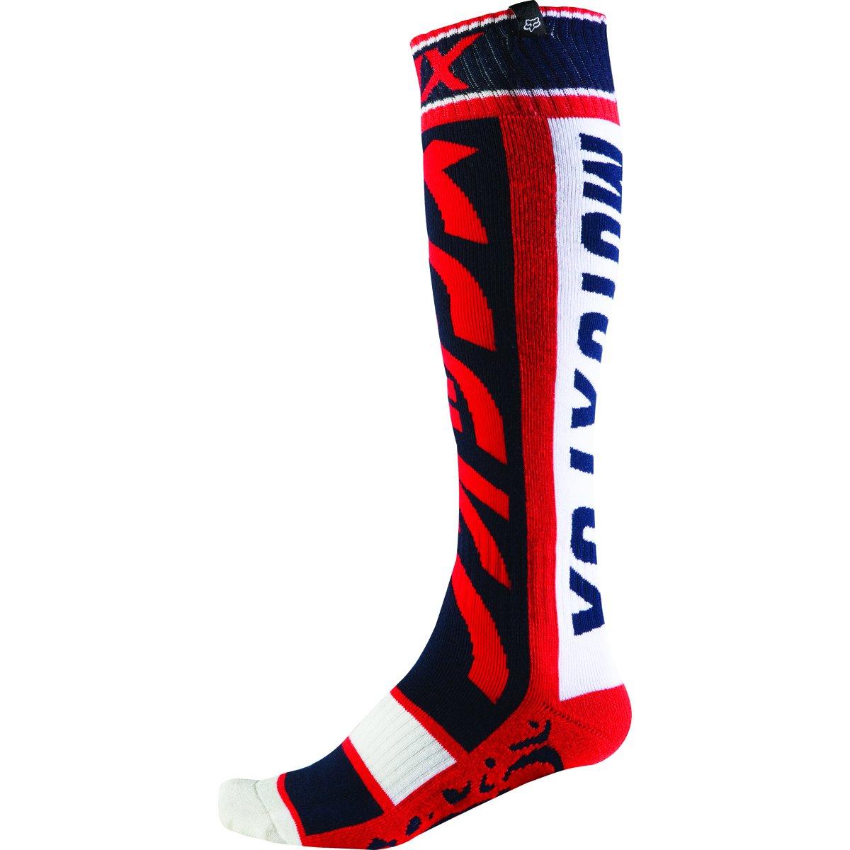 Fox Racing FRI Thin Divizion Men's MotoX Motorcycle Socks - Red / Small