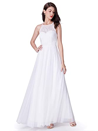 959a0164d Ever-Pretty Women Elegant A Line Halter Long Wedding Party Dress 07514 at  Amazon Women's Clothing store: