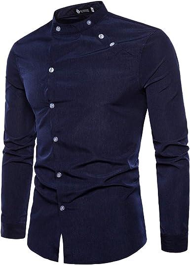 Camisa de Hombre Color sólido Primavera y Verano Diseño de ...