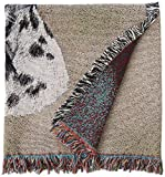 Pure Country Weavers – Dalmatian with Puppy Woven Throw Blanket with Fringe Cotton. USA Size 54×54 For Sale
