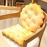 Yukuai 3D Soft Simulation Soda Crackers Shape Novelty Throw Pillows Funny Food Filling Plush Pillow, Cushion Creativity…